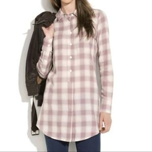 Madewell Pacific Plaid Tunic Shirt Size Medium